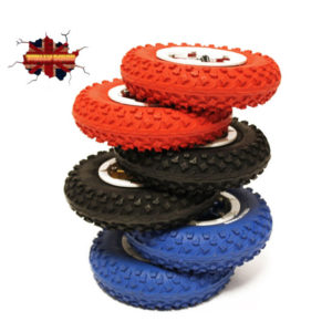 Totally Board red blue and black wheels
