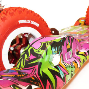 Totally Board 2wheel Hip Hop Hydro Drip with red wheels