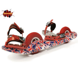 British isles 2Wheel Board with Totally Red Bindings