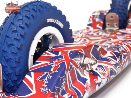 Totally Board 2wheel British Isles Hydro Drip with blue wheels
